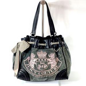 Juicy Couture shoulder bag tote purse grey pink